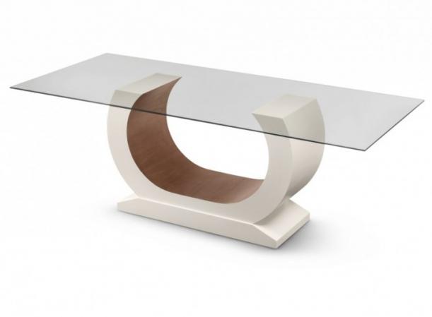 Base mesa jantar madeira laca em forma u dispon vel em for Bases de mesas cromadas
